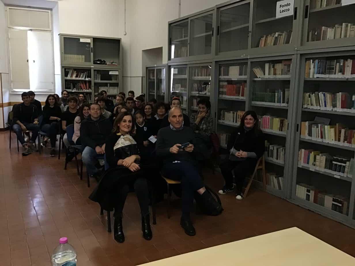 Studenti e genitori in aula magna