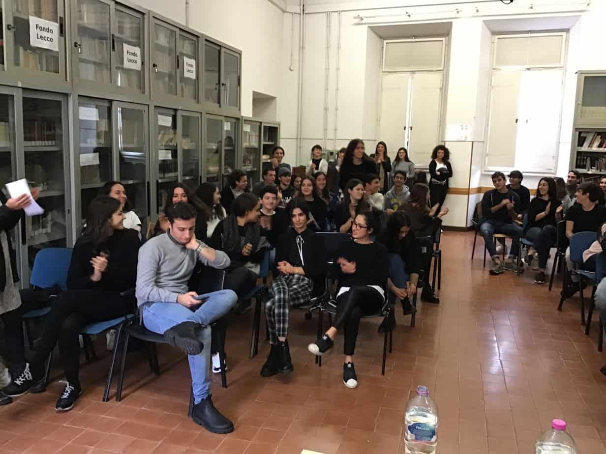 Studenti in aula magna
